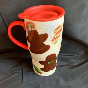 New Lenox Gingerbread Christmas Travel Mug 20 oz